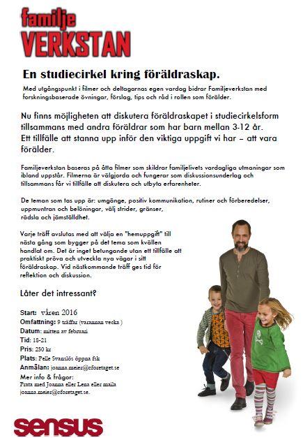 Familjeverkstan- studiecirkel kring föräldraskap