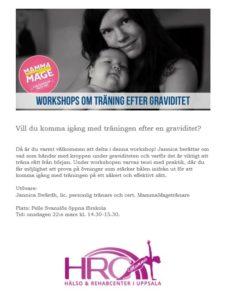 Läs mer om artikeln Träning efter graviditet – workshop