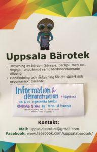 9 maj, Information om att BÄRA BARN