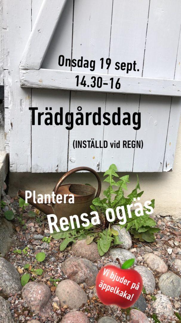 TEMA TRÄDGÅRDSDAG 19/9