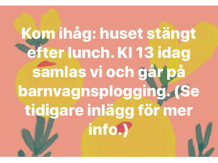 You are currently viewing Uteaktivitet idag eftermiddag – Outdoor activities this afternoon