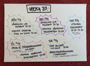 Läs mer om artikeln Schema vecka 20!