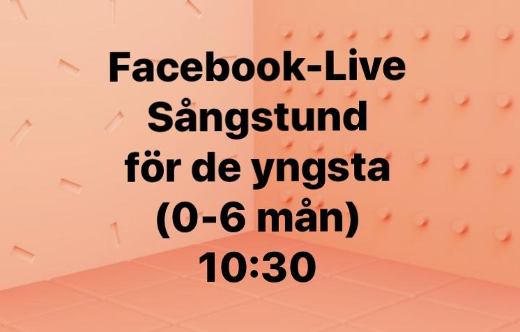 You are currently viewing 15/9 Sångstund på Facebook. Ålder 0-6 månader.
