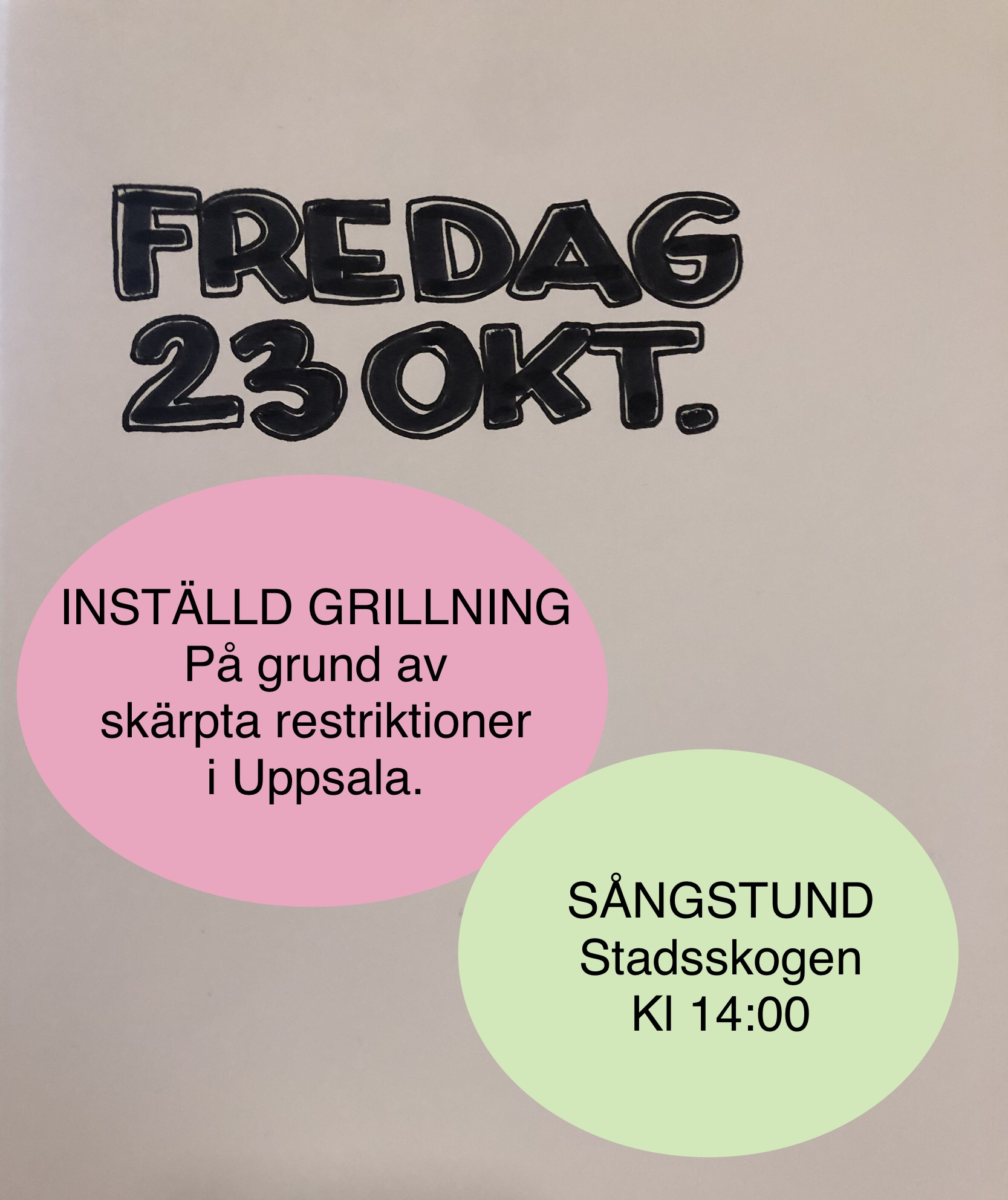 You are currently viewing Ändring fredag