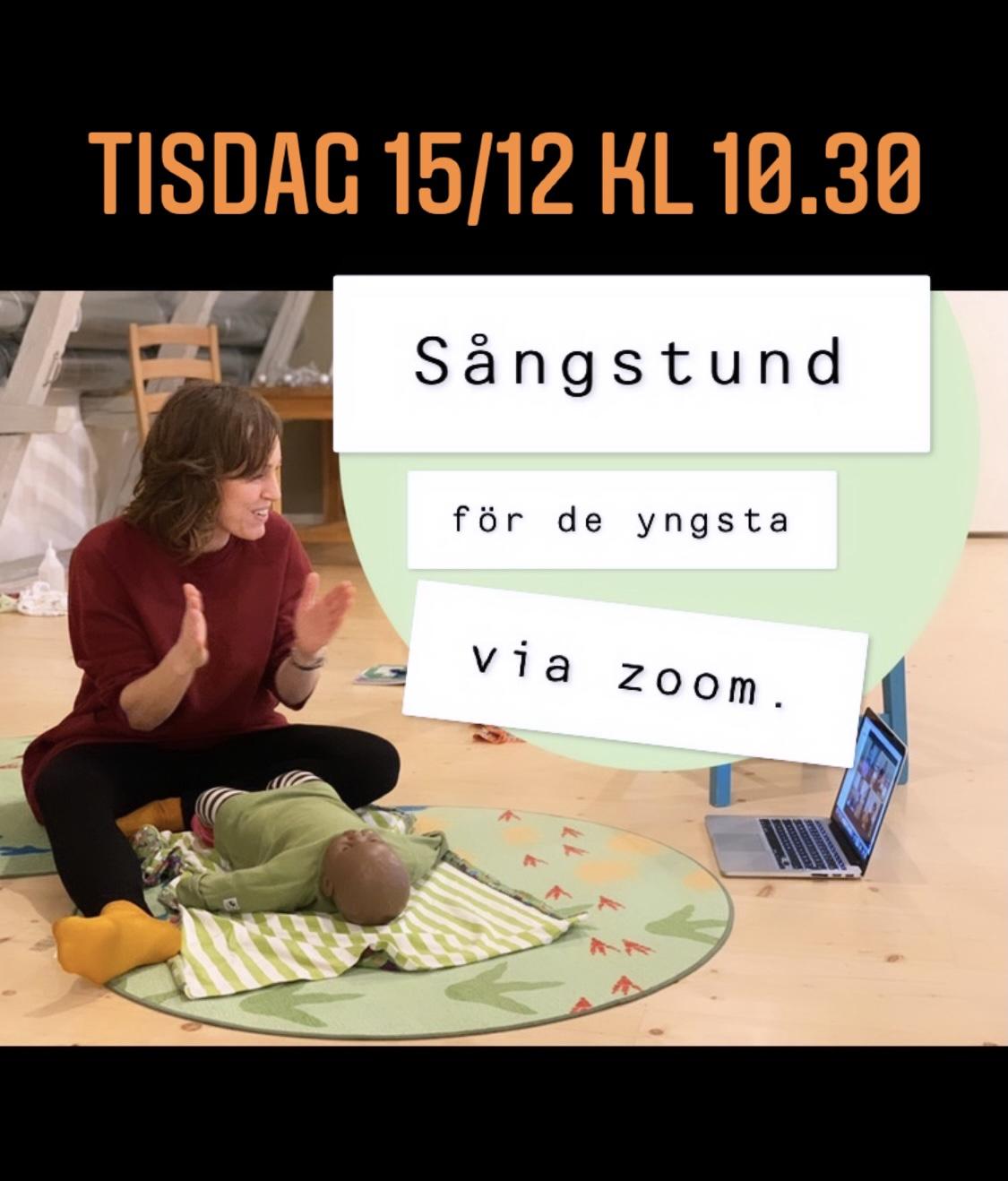Zoom-sångstunder tisdag 15/12: för de yngsta kl 10.30 & alla åldrar kl 14.00