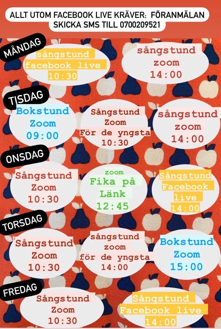 Schema & info vecka 3