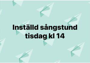 Läs mer om artikeln Inställd sångstund 22/6