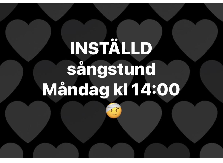 You are currently viewing Tyvärr, Inställd sångstund måndag 9/8 kl 14