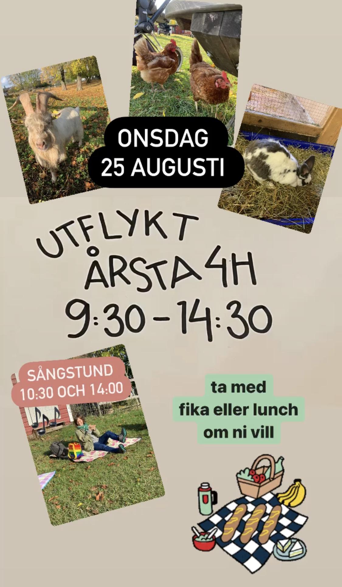 You are currently viewing 🐓 Onsdagsutflykt till Årsta 4H-gård 🐐