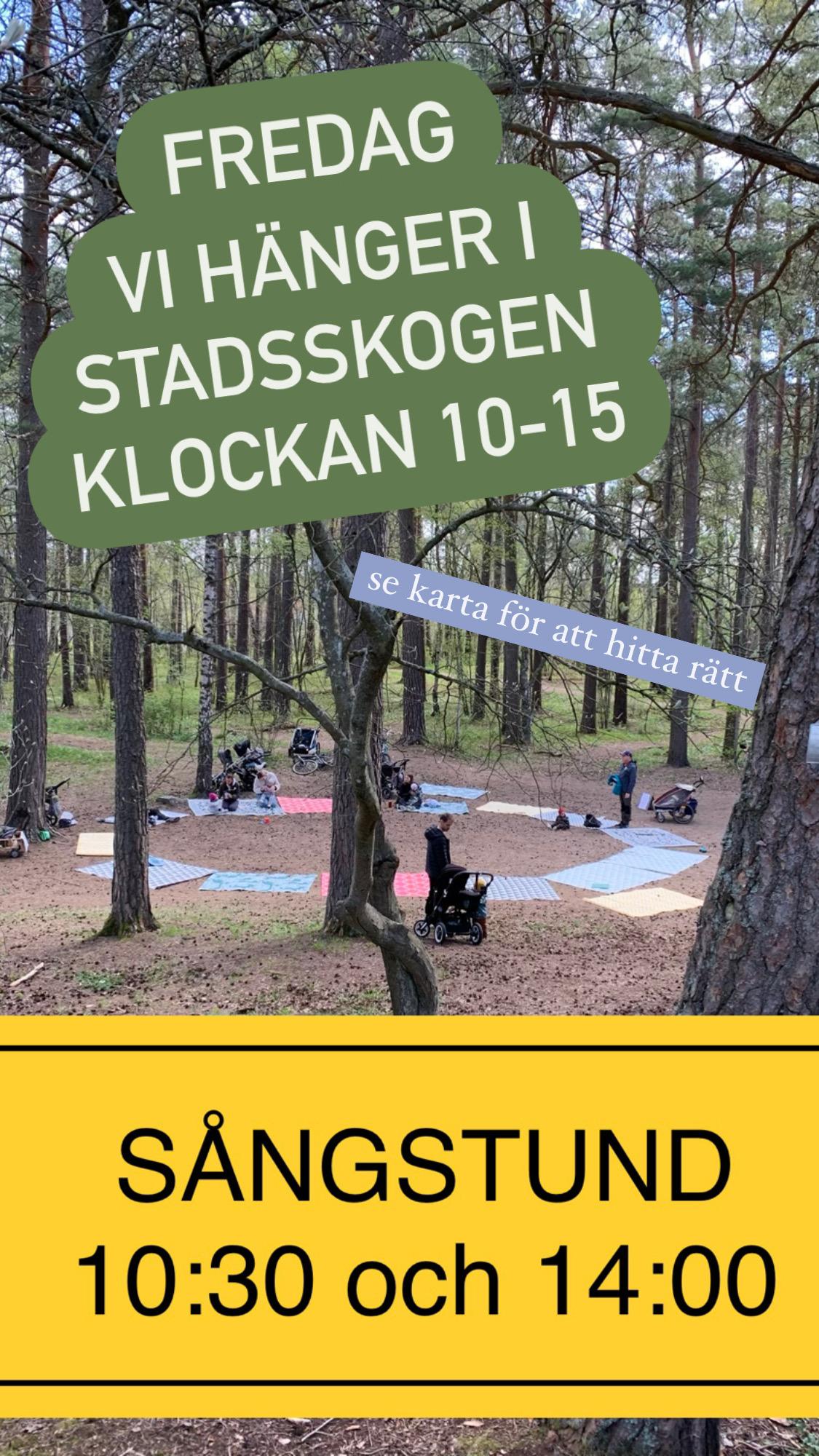 You are currently viewing Fredag i Stadsskogen 10/9 INSTÄLLD – Sångstund på Teams istället