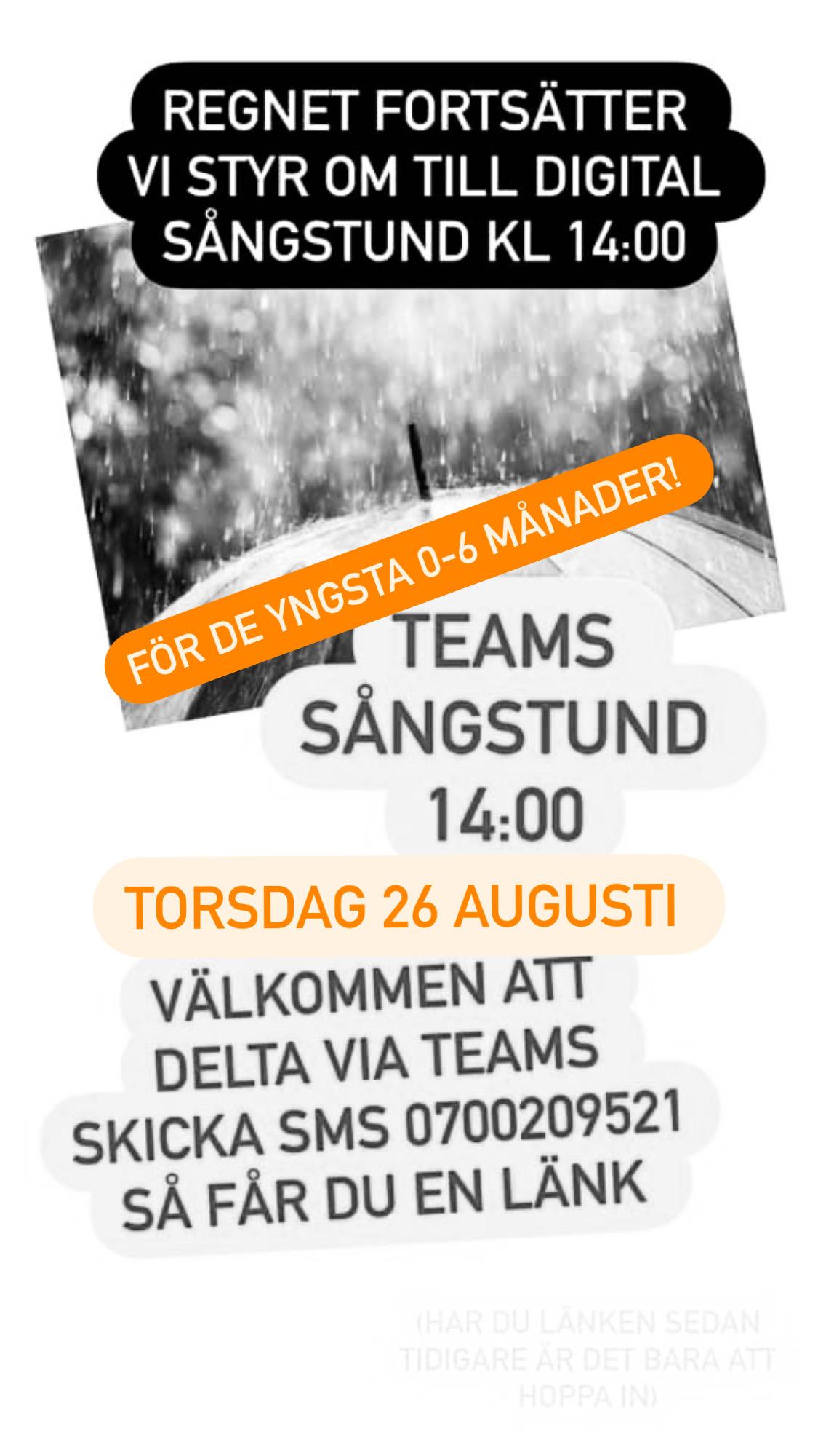 You are currently viewing Digital träff via teams 14:00 idag för de yngsta!