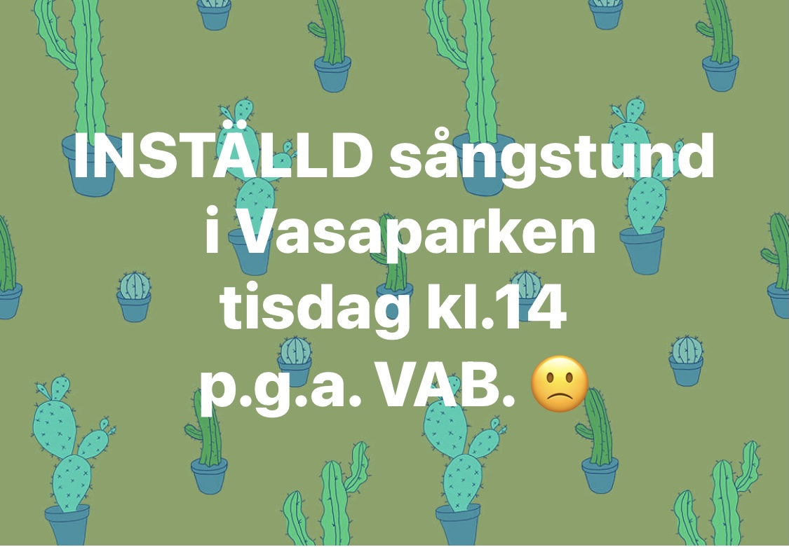 You are currently viewing Inställd sångstund tisdag 7/9 kl 14