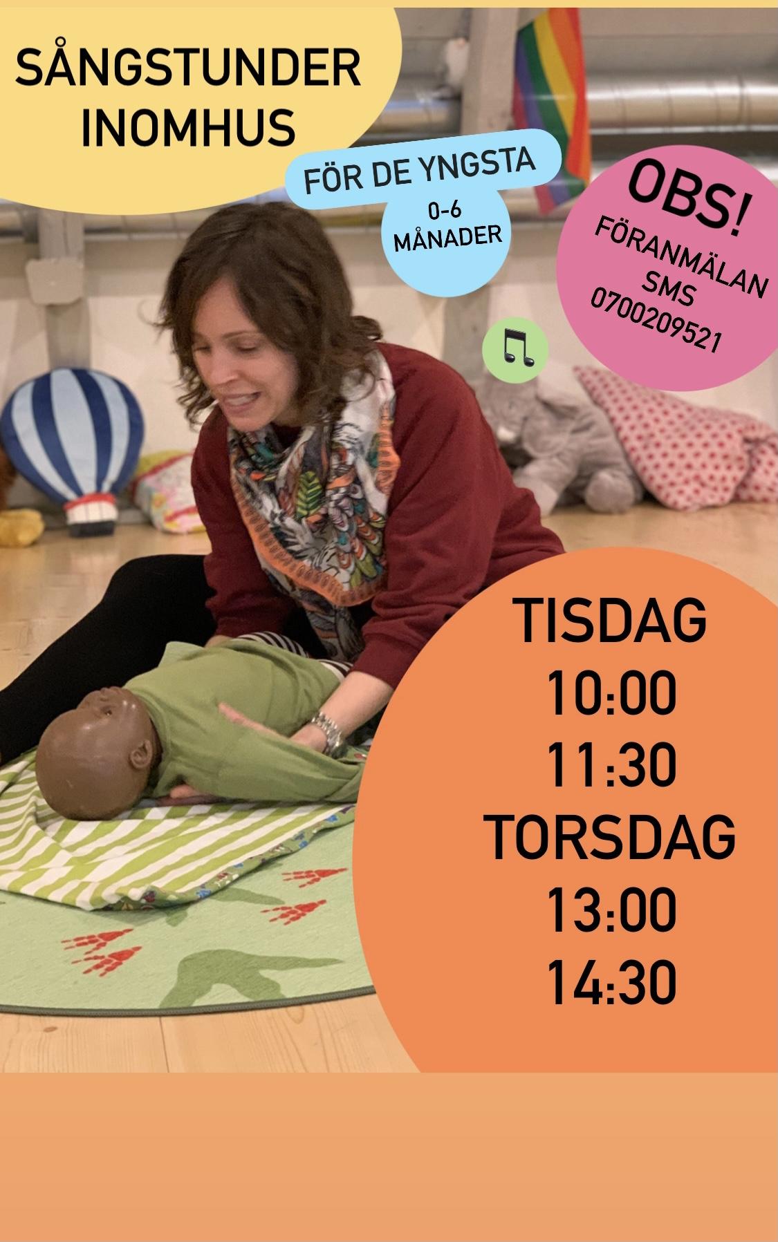 You are currently viewing NYTT FÖR DENNA VECKA — sångstunder inomhus för de yngsta (0-6 mån)