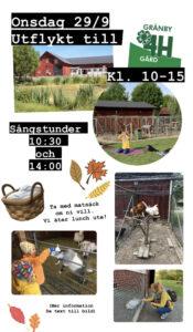 Läs mer om artikeln 🐐 Onsdagsutflykt till Gränby 4H-gård 🐖