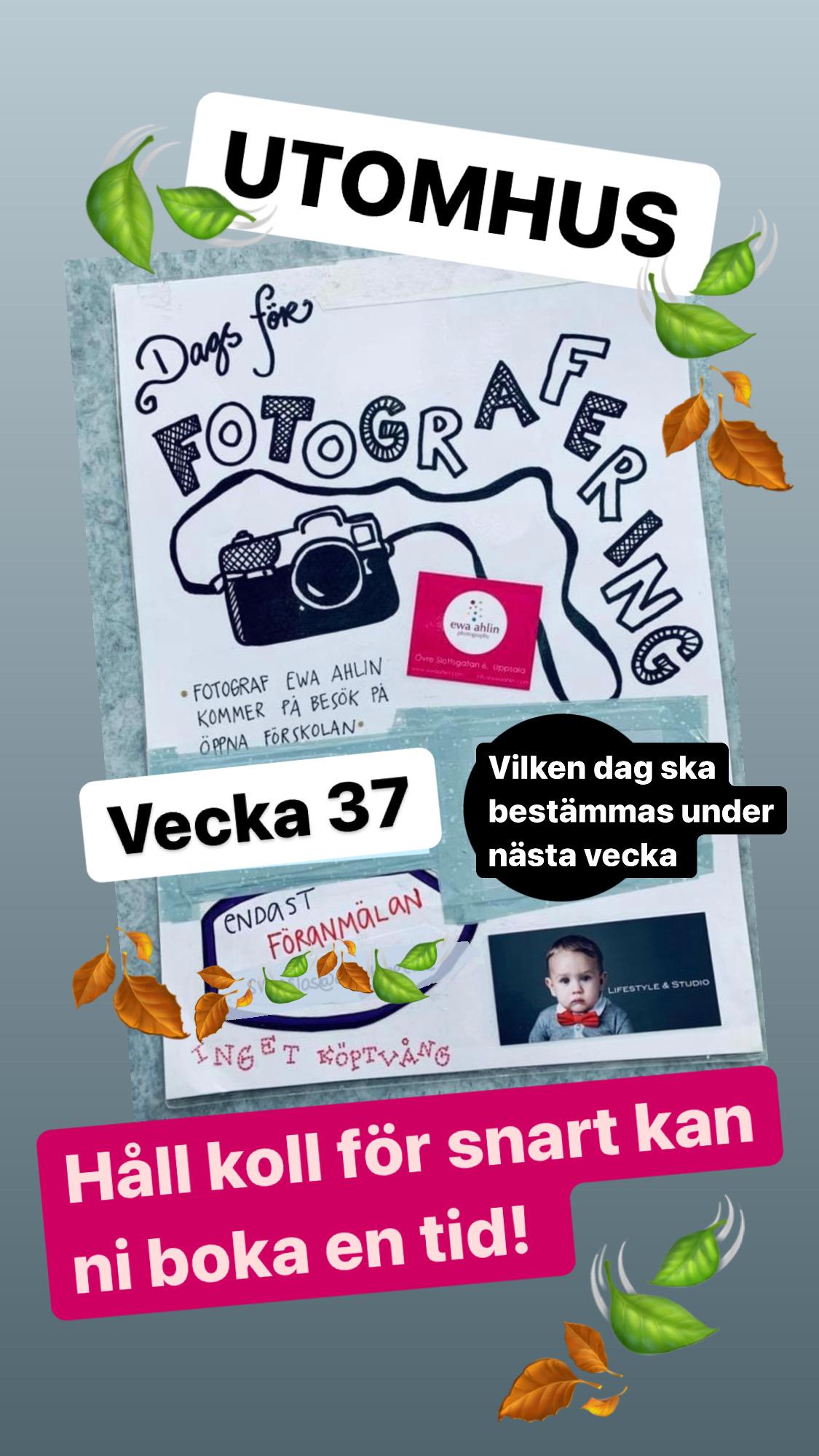You are currently viewing Snart finns chans att boka fotograferingstid.