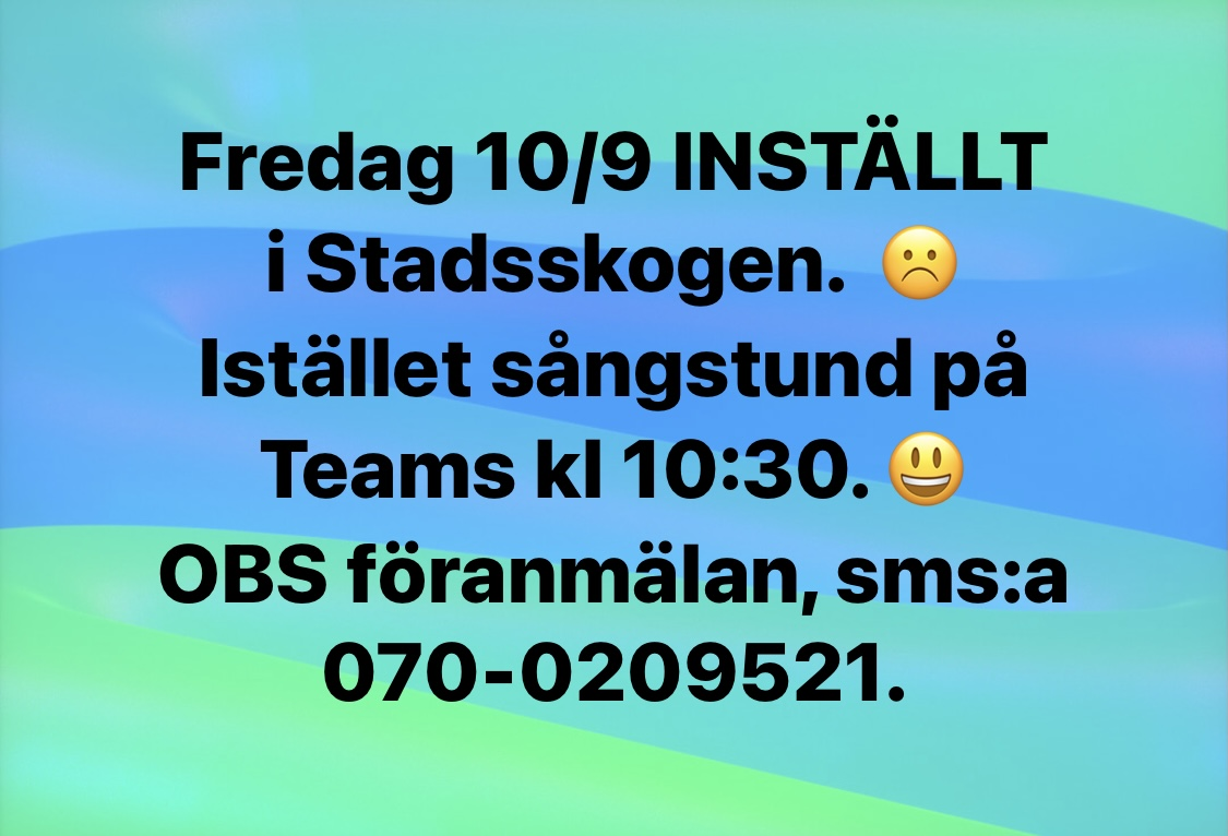 You are currently viewing Ändringar fredag 10/9