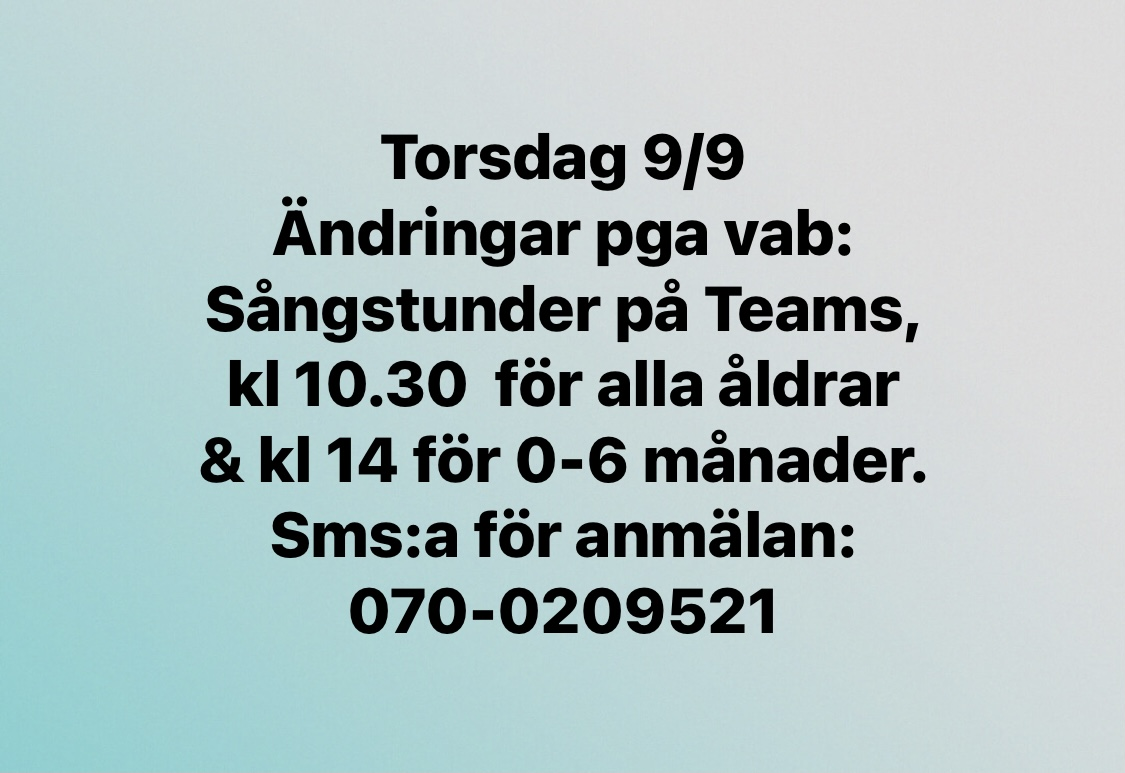 You are currently viewing Ändringar torsdag 9/9