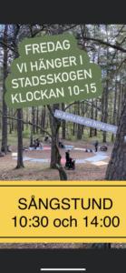 Läs mer om artikeln FREDAGSHÄNG I STADSSKOGEN 15/10