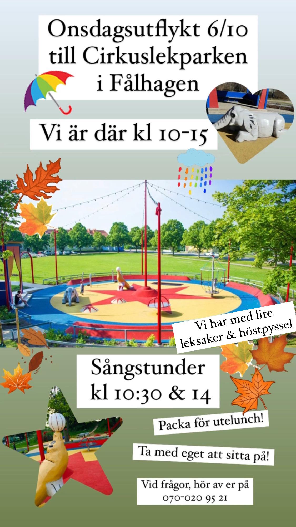 You are currently viewing 🍂 Onsdagsutflykt till Cirkuslekparken 6/10 🎪