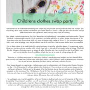 Children's clothes swap party Thursday 12/12. Register at Svanslös or follow the link to the Facebook event site. Arr: Zero Waste Uppsala
